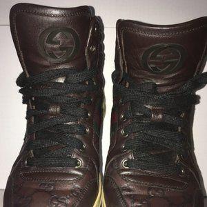 Gucci Signature leather hi-top sneaker